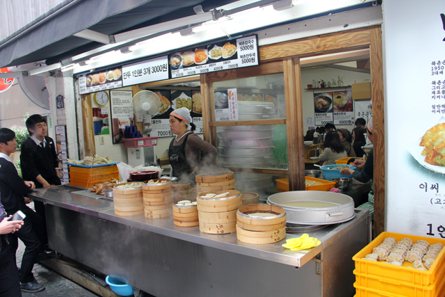 Waiting for my dumplings in Insadong
