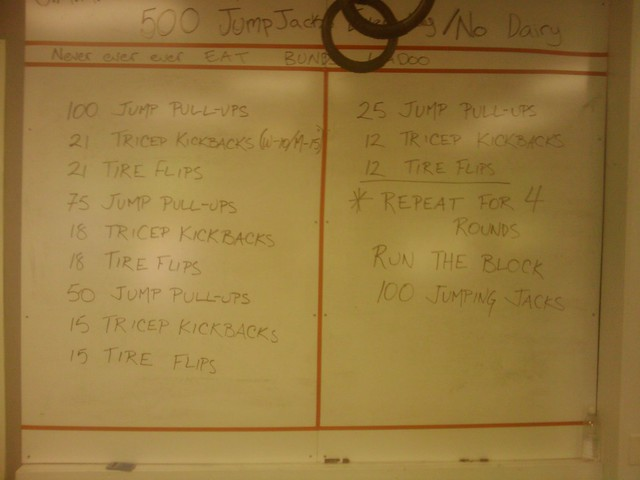 April 27, 2012 workout