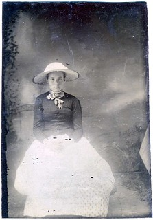 Tintype: Young Girl With Glowing Lower Extremities