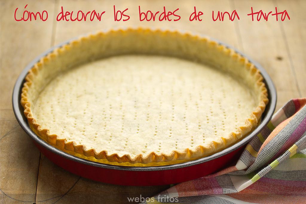 Cómo decorar los bordes de una tarta