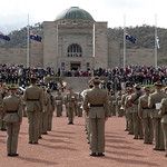 The Federation guard on the parade ground at the Australian War Memorial