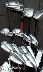 2012/5/1現在のゴルフクラブセッティングと飛距離表。ユーティリティを入れ替えました。