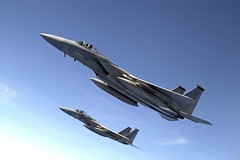 F-15C Eagles over Japan