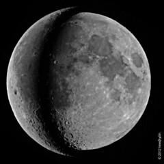 Moon near perigee and near apogee