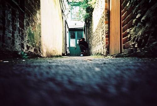 low down in an alley