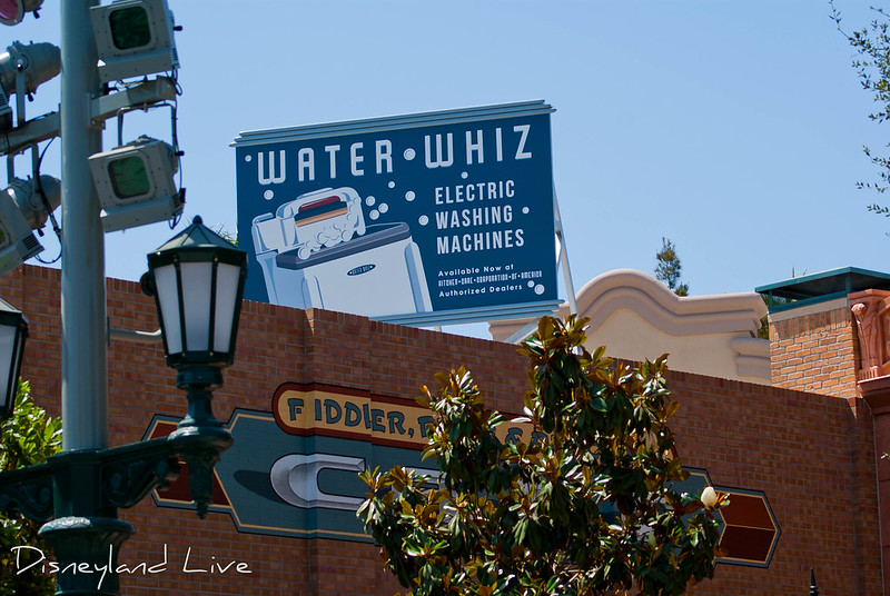 Buena Vista Street Construction - Water Whiz Sign
