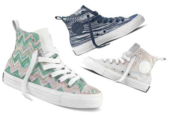 Missoni and Converse Fifth Collaboration - Zigzag Printed Sneakers