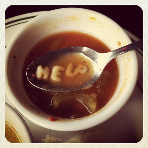 My soup has a message!!