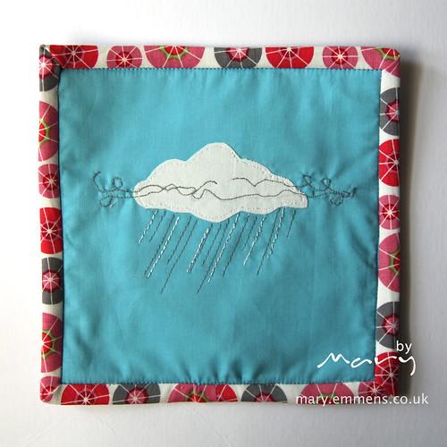 Rain Cloud Mug Rug