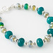 Lampwork Glass Beads and Sterling Silver Bracelet