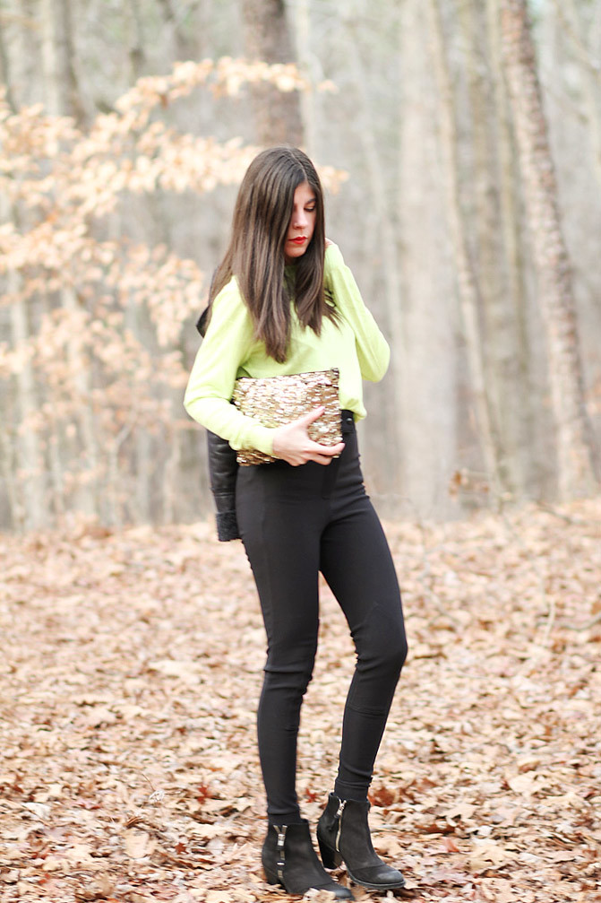American Apparel riding pants, Neon Fashion, Topshop Ambush boots, Acne boots