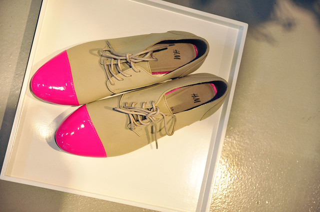 H&M Showroom F/W 2012/13 Pink toe shoes