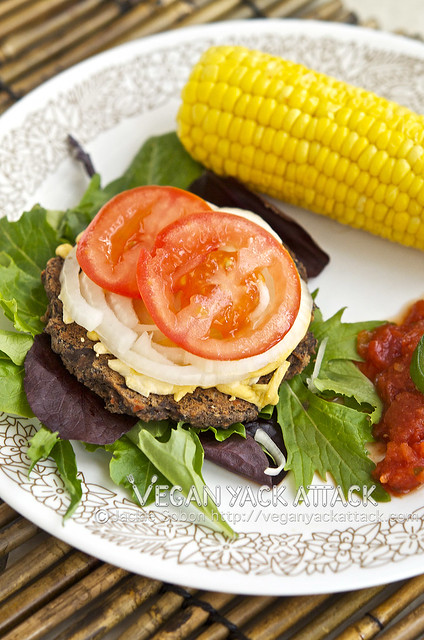 Easy-to-make Black Bean Party Burgers that create a party on your plate! These burgers are perfect for summertime gatherings.