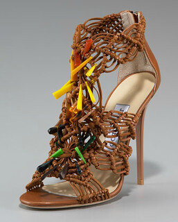 Jimmy Choo Beaded Crocheted Sandal NM Retail $1495 on sale for $1001