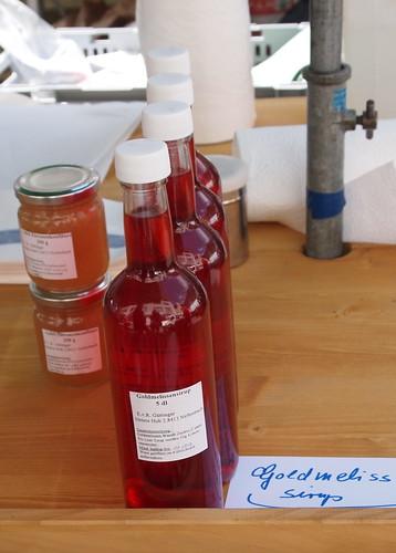 Goldmelissen-Sirup, Gumfi, Honig, selbstgemacht