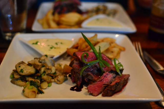Steak Frites with Oyster Mushrooms