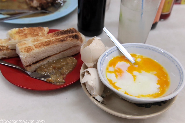 Half-Boiled Egg and Kaya Toast
