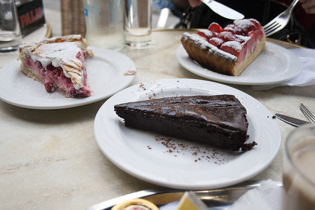 Tartas en el Arcadi Café.