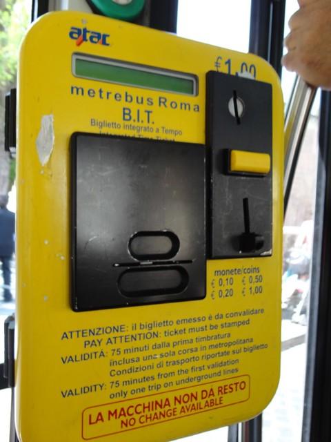Bus - Ticket machine