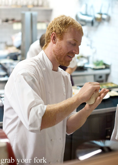 James Parry working with sourdough