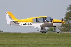 G-CCZX - 1992 build Robin DR400/180 Regent, arriving at AeroExpo 2012