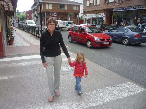 Crossing the street with Grandma