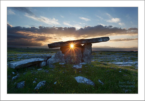 Poulnabrone at sunset