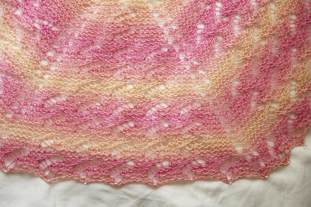 snakes & ladders shawl