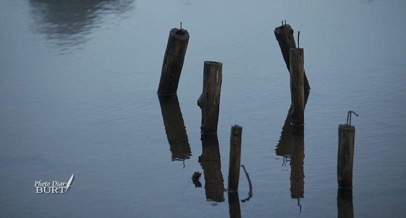 湖畔小碼頭殘跡