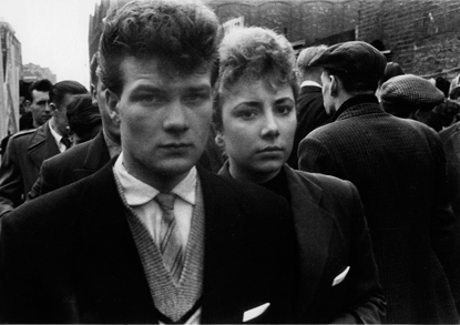 Petticoat Lane 1956:Teddy boy and girl