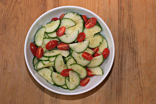 spicy and sweet cucumber and tomato salad 2