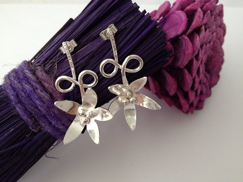 silver earrings by Eve smith,silvermeadows.