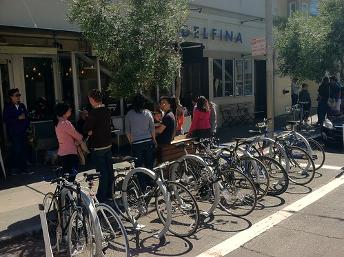 Bike Corral at Delfina Pizzeria