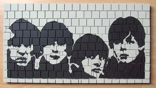 Beatles Pop Art Black And White Beatles Pop Art