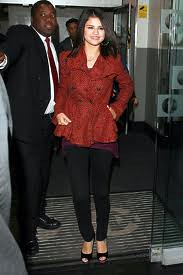 Selena Gomez Tweed Jacket Celebrity Style Women's Fashion