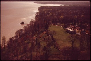 Aerial View Of Mt. Vernon And The Potomac River, April 1973