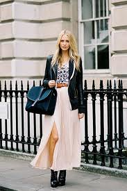 Poppy Delevingne Maxi Skirt Celebrity Style Women's Fashion