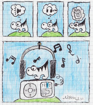 l'animal zébré et la musique