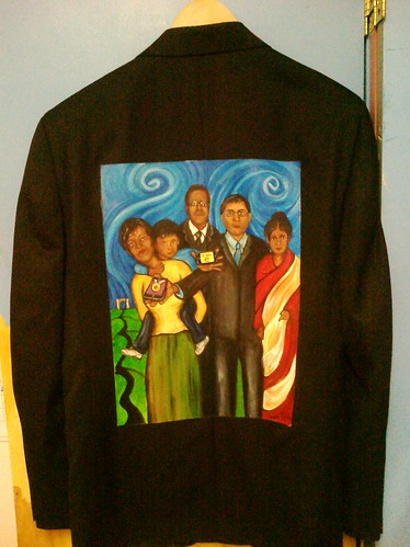 """I am e."" a jacket for Gangadhar Sulkunte"