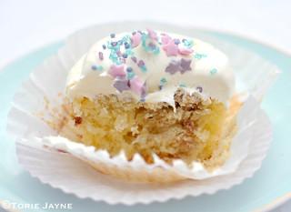 Blackcurrant swirl cupcake