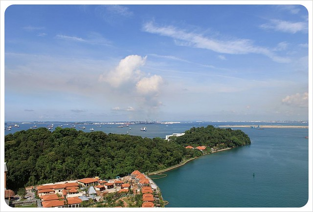 sentosa island view from cable car