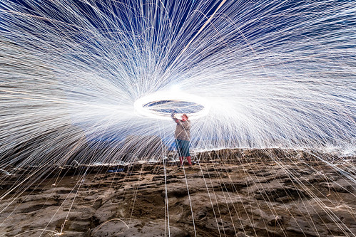 Steel Wool Spinning - Standing in the Line of Fire