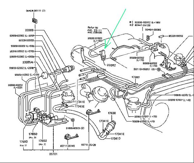 1988 Toyota Pickup V6 Vacuum Switch Location Wiring