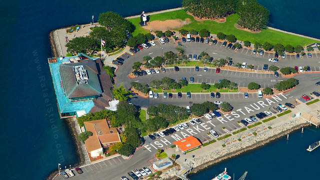 Aerial photo of the fish market restaurant flickr for The fish market restaurant san diego