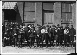 Group in front of Indian Orchard Mfg. Co. Everyone in photo was working, September 1911