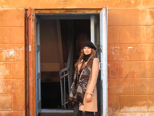 Brenna Holeman in Listvyanka, Russia