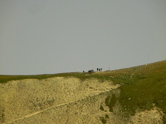 Les costauds au Col de Chaberton