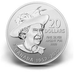 Canadian $20 Silver Diamond Jubilee coin