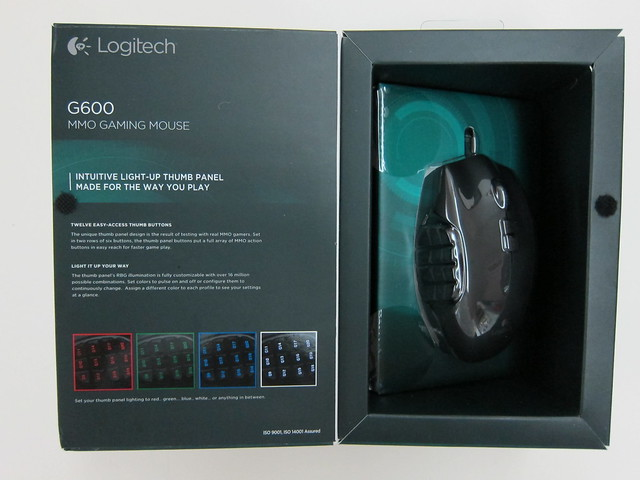 Logitech G600 MMO Gaming Mouse - Box Inside