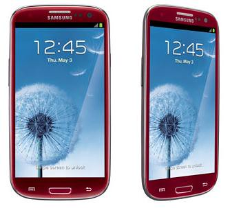 Samsung Galaxy S III red